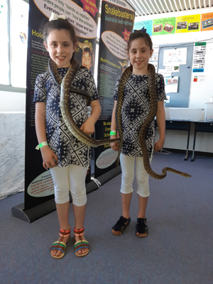 kids and snakes